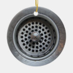 Down the Drain Double-Sided Ceramic Round Christmas Ornament