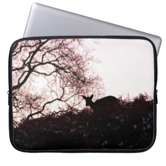 Down the hill (deer) laptop sleeve