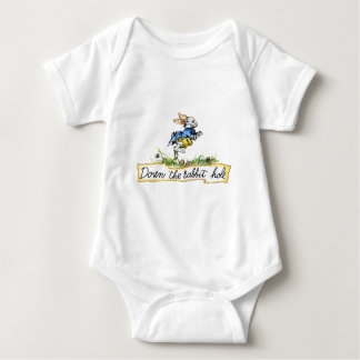 Down the rabbit hole baby bodysuit