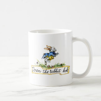 Down the rabbit hole coffee mug