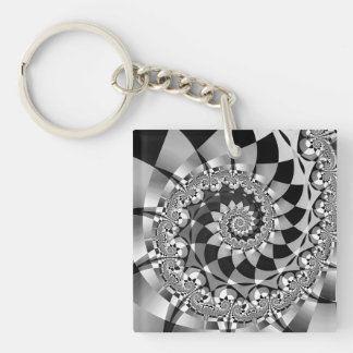 """Down the Rabbit Hole"" Personalized Keychain"
