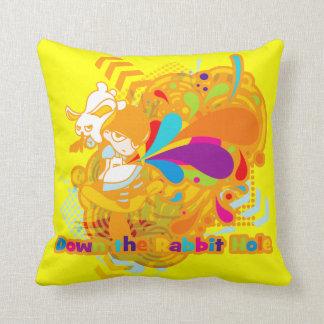 Down the Rabbit-Hole Throw Pillow