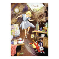 Down the Rabbit Hole Thank You Baby Shower Personalized Invite