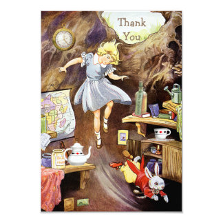 Down the Rabbit Hole Thank You Baby Shower 3.5x5 Paper Invitation Card