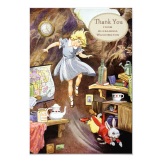 Down the Rabbit Hole Thank You Bridal Shower Card