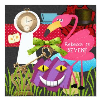 Down The Rabbit Hole Wonderland Birthday Invite