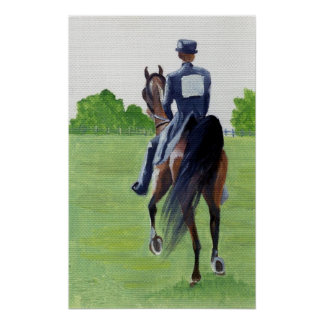 Down The Road American Saddlebred Horse Portrait Poster