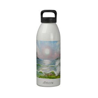 Down the Road Seascape Design Water Bottle
