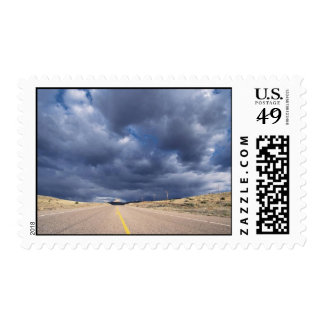 Down the Road Under Storm Clouds Stamps