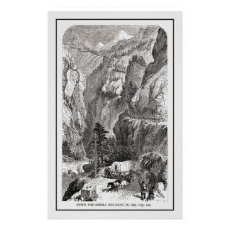 Down the Sierra Nevada in 1865 Poster