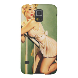 Down the Stairs - Retro Pin-up Girl Galaxy S5 Cover