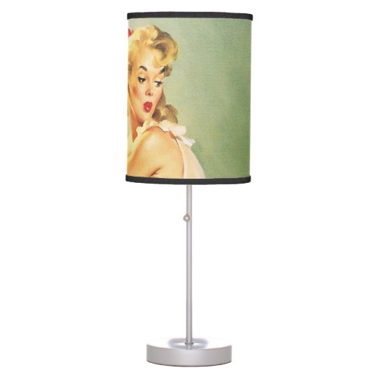 Down the Stairs - Retro Pin-up Girl Table Lamp