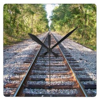Down the Tracks Clock