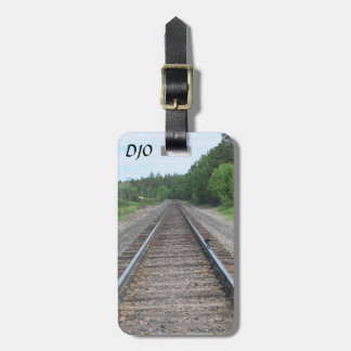 Down the Train Tracks Luggage Tag