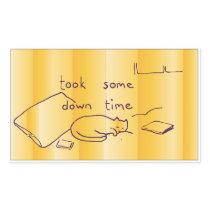 down time rectangular sticker