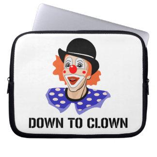 Down To Clown Funny Humor Joke Laptop Sleeve