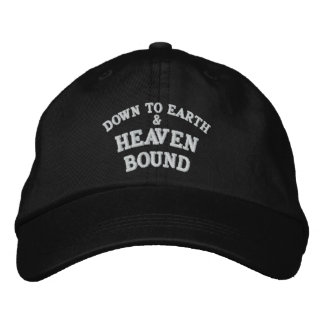 DOWN TO EARTH, &, HEAVEN, BOUND EMBROIDERED BASEBALL HAT