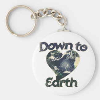 Down to Earth Basic Round Button Keychain