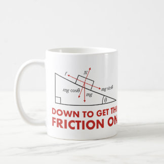 Down to Get the Friction On Physics Diagram Coffee Mug