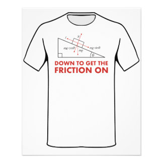 Down to Get the Friction On Physics Diagram Flyer