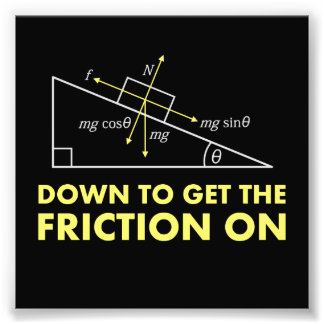 Down to Get the Friction On Physics Diagram Photograph