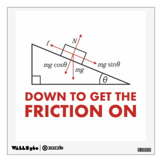 Down to Get the Friction On Physics Diagram Wall Graphics