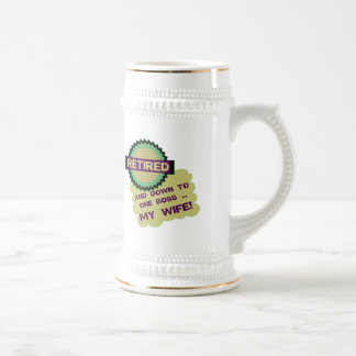Down To One Boss 18 Oz Beer Stein