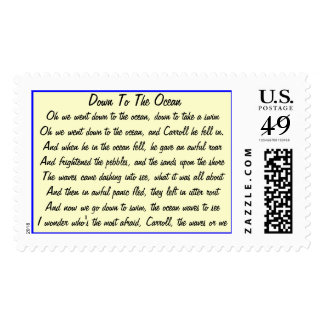 Down to the Ocean Stamp