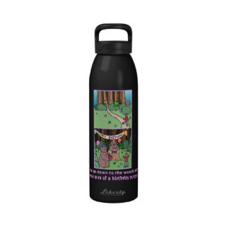 Down to the Woods Bear Birthday Party Boy Reusable Water Bottle