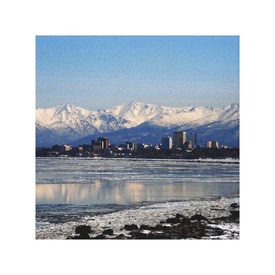 Down Town Anchorage,Alaska Canvas Print