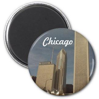 Down town Chicago 2 Inch Round Magnet