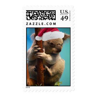 Down Under Christmas Koala Postage Stamps