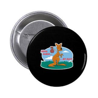 down under or bust kangaroo pins