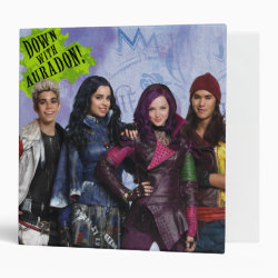 Avery Signature 1' Binder with Descendants Down With Auradon! design
