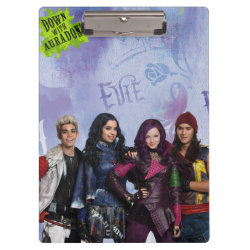 Clipboard with Descendants Down With Auradon! design