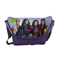 Rickshaw Medium Zero Messenger Bag with Descendants Down With Auradon! design