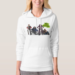 Women's American Apparel California Fleece Pullover Hoodie with Descendants Down With Auradon! design