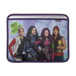 Macbook Air Sleeve with Descendants Down With Auradon! design