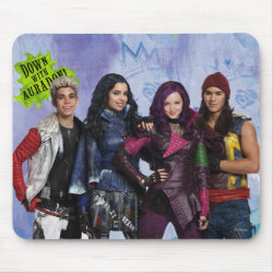 Mousepad with Descendants Down With Auradon! design