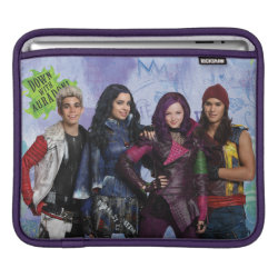 iPad Sleeve with Descendants Down With Auradon! design