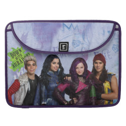 Macbook Pro 15' Flap Sleeve with Descendants Down With Auradon! design