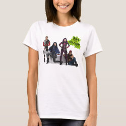 Women's Basic T-Shirt with Descendants Down With Auradon! design