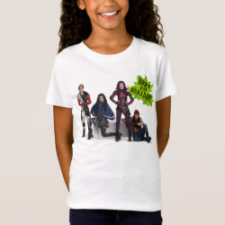 Girls' Fine Jersey T-Shirt with Descendants Down With Auradon! design