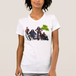 Women's American Apparel Fine Jersey Short Sleeve T-Shirt with Descendants Down With Auradon! design