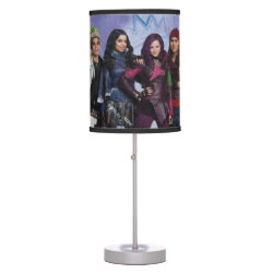 Table Lamp with Descendants Down With Auradon! design