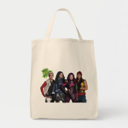 Grocery Tote with Descendants Down With Auradon! design