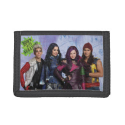 TriFold Nylon Wallet with Descendants Down With Auradon! design