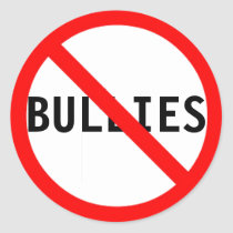 Down With Bullies Classic Round Sticker