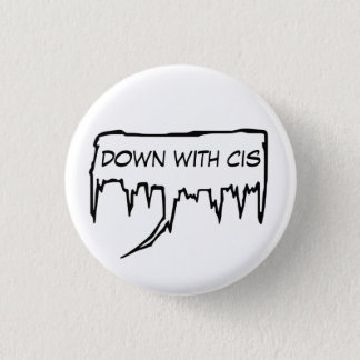 down with cis speech bubble button