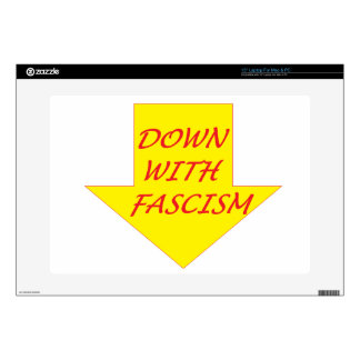 """Down with Fascism 15"""" Laptop Decal"""